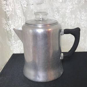 Priscilla Ware Vintage 8 Cup Aluminum Coffee Pot